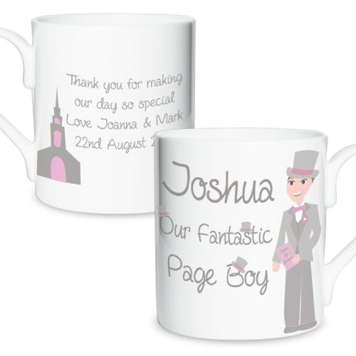Personalised Fabulous Page Boy Mug
